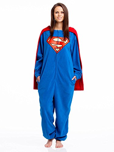 Superman Caped Overall Tuta blu S
