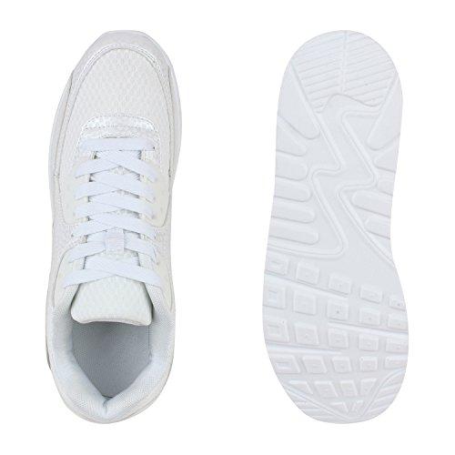 Herren Damen Sportschuhe Laufschuhe Runners Sneakers Prints Weiss Camargo