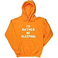 Hippowarehouse I'd Rather Be Sleeping Unisex Hoodie Hooded Top (Specific Size Guide In Description)