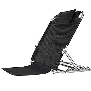QETU Edelstahl-Bett-Rückenpolster, Ebene Six Arc Adjustment Mit bequemer Breathable Kopfstütze, für Senioren geeignet Bett Rückenpflege Pad