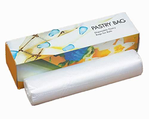 Folie Rohrleitungen (PhantomSky 50 Stück 12 Zoll Einweg-Zuckerglasur Gebäckbeutel Spritzbeutel Spritztüten Kuchen DIY Dekorieren Werkzeuge für Kuchen-Plätzchen-königlicher Zuckerguss - Perfekt für Back-Liebhaber)