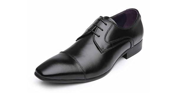 Rad Russel Men's Black Leather Shoe 8 Uk: Buy Online at Low