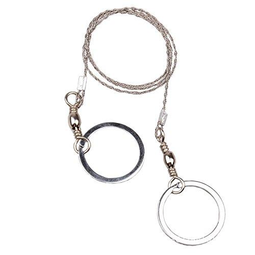 Dosige Outdoor Drahtsäge Fingersäge Seilsäge mit Griffringen Edelstahl 360 Grad Dreh Überleben Drahtsägen Wire Saw