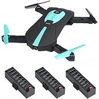 JY018 Mini Selfie Faltbarer RC Quadcopter Drone mit Höhenhaltung FPV VR Wifi 2MP HD Kamera 2.4GHz 6-Achsen Gyro Headless Mode A Key Return JY018 Drone (JY018 drone+3 battery+USB-Ladegerät)