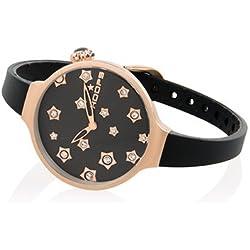 HOOPS Uhren Icon Stars Damen Uhrzeit Schwarz - 2562LS-01