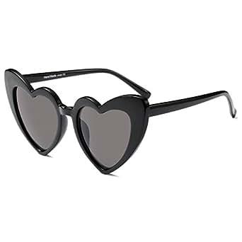 Fuyingda Femmes Goggle Coeur Lunettes de soleil Vintage Cat Eye Mod Style Retro Eyewear sOys1ZE