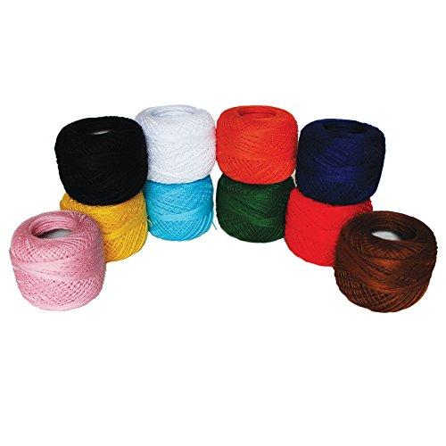 Baumwollgarn Faden von Kurtzy - Einfarbiges Design in einem Sortiment aus Farben - Garn zum Stricken, Projekte u. Applikationen - 20 Gramm - 170m Faden - Hochwertiges Material (Stricken-projekt-tasche)