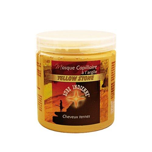 Aube Indienne masque capillaire yellow stone argile jaune - Pot 250 ml