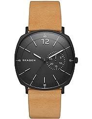Skagen Herren-Armbanduhr Analog Quarz Leder SKW6257