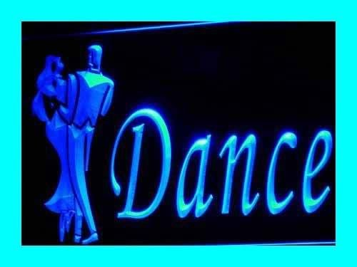 INDIGOS UG Lichtfluter i229-b OPEN Dance School Neon Light sign Barlicht Lichtwerbung Neonlicht