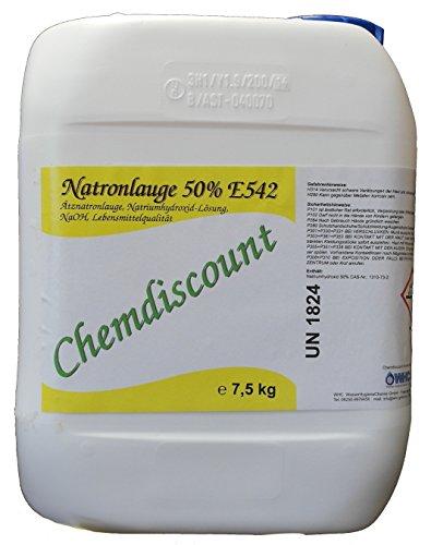 5Liter (ca. 7,5kg) Natronlauge 50% in Lebensmittelqualität E524 für Brezenlauge, Laugengebäck, versandkostenfrei