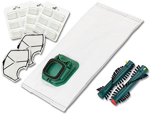 30 Staubsaugerbeutel Filtertüten Duft Motorfilter Bürsten geeignet für Vorwerk Staubsauger Vk 140 Eb 360