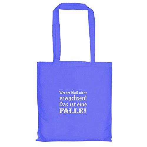 TEXLAB - Werdet bloß nicht erwachsen - Stoffbeutel, (Kumpels Kostüm Blau)