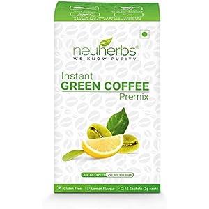 Instant Green Coffee Premix With Lemon Flavour (15 Sachet), Each 3 Gm