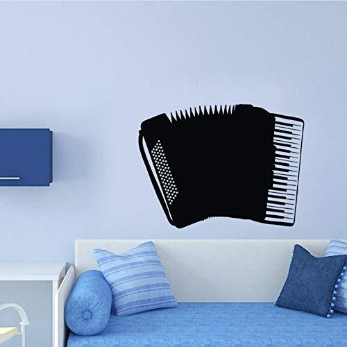 Meaosy adesivi murali a fisarmonica strumento musicale camera dei bambini decalcomanie da muro adesivi decorativi in vinile