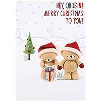 Hallmark Forever Friends Cousin Christmas Card 'Totally Brilliant Time'- Medium