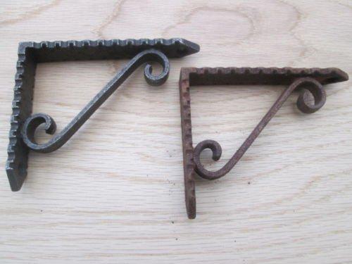 Traditionelle Scroll (Ironmongery World® Gusseisen Antik Traditionellen Scroll Stil Regal Unterstützung Book Fancy Bracket (braun))