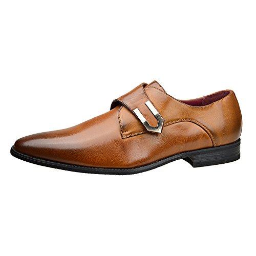 Clarks Chart Limit, Chaussures de ville homme - Marron (Brown Leather), 41.5 EU (7.5 UK)