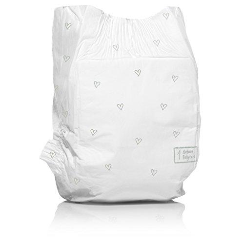 Naty by Nature Babycare Ökowindeln – Größe 1 Newborn, 2-5 kg, 2er Pack (2 x 26 Stück) - 2