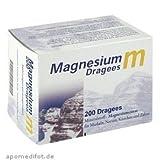 Magnesium m Dragees - 100 Dragees mit Magnesiumcitrat für Muskeln, Nerven, Knochen und Zähne (200)