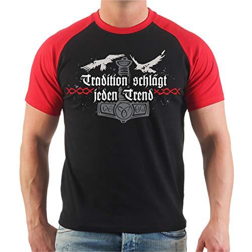 Männer und Herren T-Shirt Gott mit Uns Germanen (mit Rückendruck) Größe S - 8XL