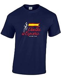 Rinsed Vuelta a Espana Vintage Flag Cycling T-Shirt