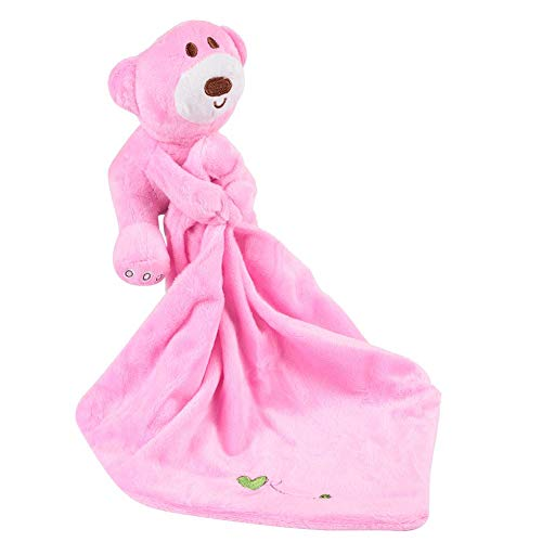 Baby Komfort Handtuch, Neugeborenen Beruhigen Spielzeug Weichem Plüsch Niedlichen Tier Rasseln Beißring Spielen Puppe für Kleinkind