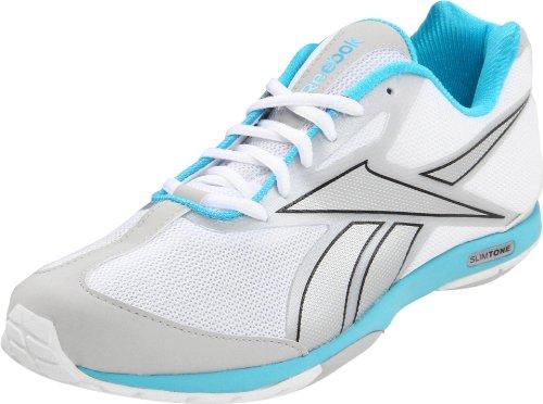 REEBOK Slim Tone Damen Fitnessschuh White/Steel/Neon Blue