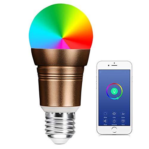 Lampe Fernbedienung WLAN 11W 6000K RGB E27 2700K bis 6500K Dimmbare Farbwechsel WIFI Lampe Fernbedienung WLAN Lampe Multicolor Kompatibel mit Alexa, Echo, Google Home und IFTTT 4 Pack