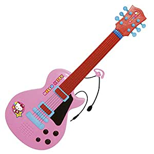 reig hello kitty 6 string guitar with earpiece microphone toys games. Black Bedroom Furniture Sets. Home Design Ideas