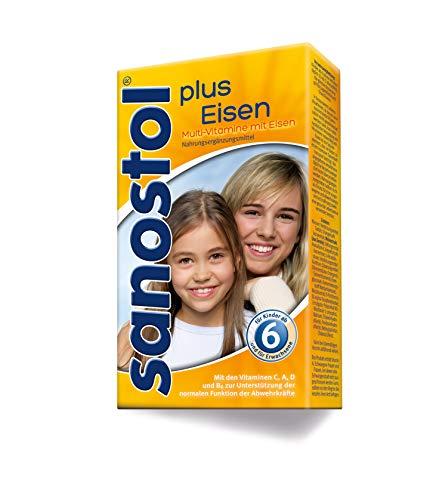 Sanostol plus Eisen: Multi-Vitamine für Kinder ab 6 Jahren und Erwachsene, mit Vitaminen und Eisen, 460ml - Multivitamin Plus Eisen
