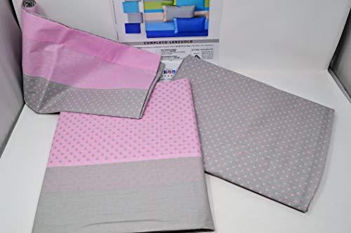 Gabel lenzuola letto singolo cotone completo verve (pastello)