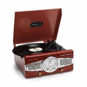 Classic Phono TT29 Tourne disque Combi AM-FM Radio / Turntable Rouge
