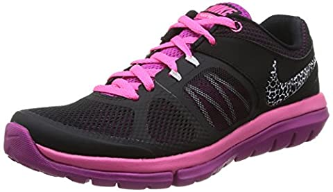 Nike Flex 2014 Run MSL Women Laufschuhe black-white-pink pow-fuchsia flash