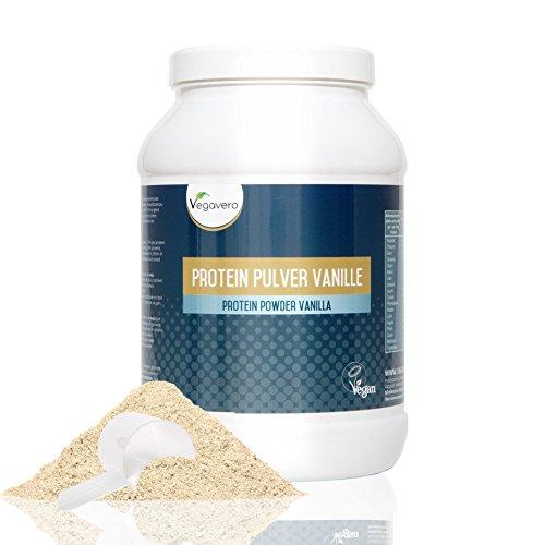 Proteine Vegetali - Vegane in Polvere Vegavero - Gusto Vaniglia | Combinazione di 5 Proteine vegetali per la crescita e il mantenimento della massa muscolare - Proteine Isolate della Soia - Riso Integrale - Lupini - Pisello - Canapa | Senza Zucchero e con dolcificanti naturali | Ottima Fonte di BCAA - Completo Profilo Amminoacido con gli aminoacidi ramificati L- Valina - L - Isoleucina e L- Valina | Prodotto in Germania - Certificazioni a disposizione