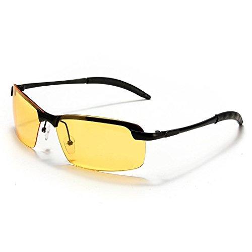 polarisierte Glaeser - SODIAL(R)Auto kFZ Nachtsichtbrille Nachtfahrbrille Nachtbrille Brille Kontrastbrille