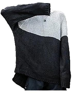 Suéter De Invierno Hombres Suéter Suéter Flojo De Gran Tamaño Cuello Redondo Manga Larga Camisa Camisa Camisa