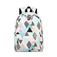 Acmebon Waterproof Stylish School Backpack for Boys and Girls Trend Print Casual Laptop Backpack Rhombus 617