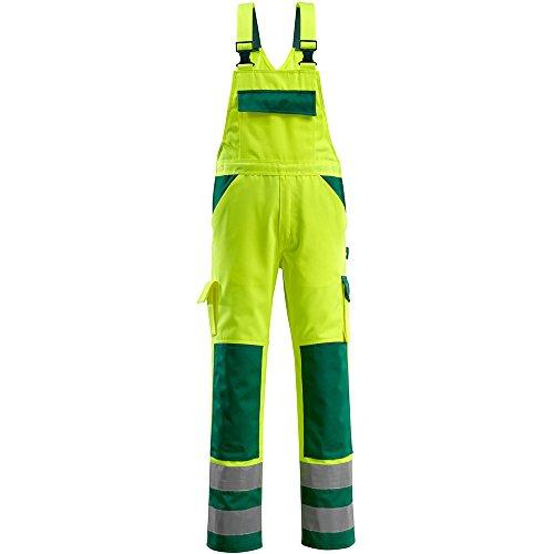 "Mascot Latzhose ""Barras"" Größe L82cm/C62, 1 Stück, gelb / grün, 07169-470-1703-82C62"