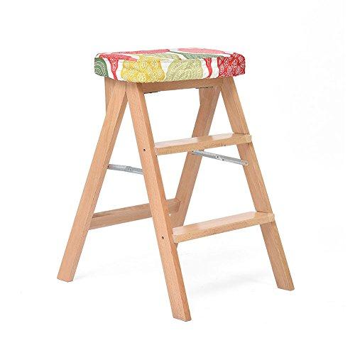 ZXWDIAN Escabeau pliant - banc haut portable en bois massif pour tabouret de cuisine - fauteuil multifonctionnel pour adulte de maison Escabeau banc chaussure changement banc (Couleur : B)