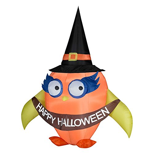 W x 124,5cm D x 213,4cm H Halloween Airblown aufblasbare falloween Eule (Gemmy Halloween)