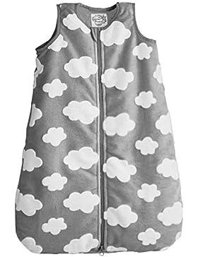 POCOPIANO® Baby Schalfsack/Winterschlafsack aus weichem Plüsch/Innenfutter aus 100% Baumwolle