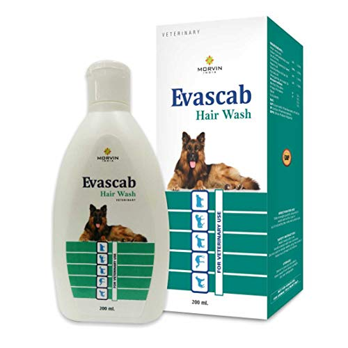 Morvin India Evascab Anti-dandruff, Flea and Tick, Hypoallergenic, Whitening, Color Enhancing, Conditioning, Anti-parasitic, Allergy Relief, Anti-microbial, Anti-fungal, Anti-itching Fresh Dog Shampoo