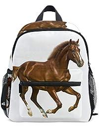 Preisvergleich für FANTAZIO Rucksack Grundschule braun Pferd weiß Hintergrund