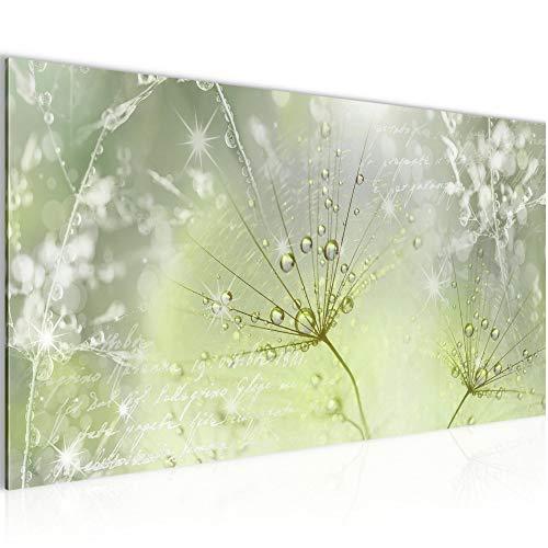 Bilder Blumen Pusteblume Wandbild 100 x 40 cm Vlies - Leinwand Bild XXL Format Wandbilder Wohnzimmer Wohnung Deko Kunstdrucke Grün 1 Teilig - MADE IN GERMANY - Fertig zum Aufhängen 205612b