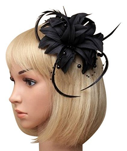 La belle vie - magnifique fascinateur noir pour cheveux corsage et broche