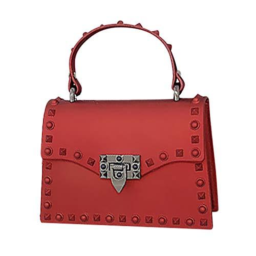 Mitlfuny handbemalte Ledertasche, Schultertasche, Geschenk, Handgefertigte Tasche,Damenmode stumpfe polnische Niet-Geleebeutel-einzelne Schulter-Kuriertaschen (Frau Kostüm Elvis)