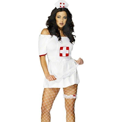 Amakando Krankenschwester Kostüm Ärztin Set Krankenschwesterkostüm Zubehör Schwesternkostüm Kit Nurse Kostümset Sexy (Krankenschwester Zubehör Kit)