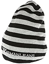 Armani Jeans cuffia berretto donna in lana originale nero e0d5ae175e1a