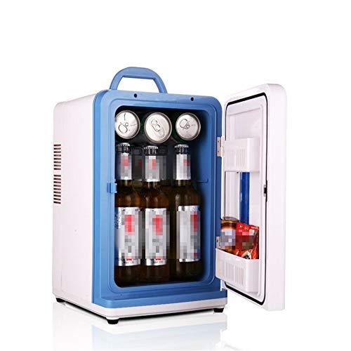Zoueroih Frigorifero per Auto Raffreddatore termoelettrico per Mini frigo da 15 Litri per dormitorio o imbarcazione per l'home Office Compatto e Portatile: Cavi di Alimentazione CA e CC